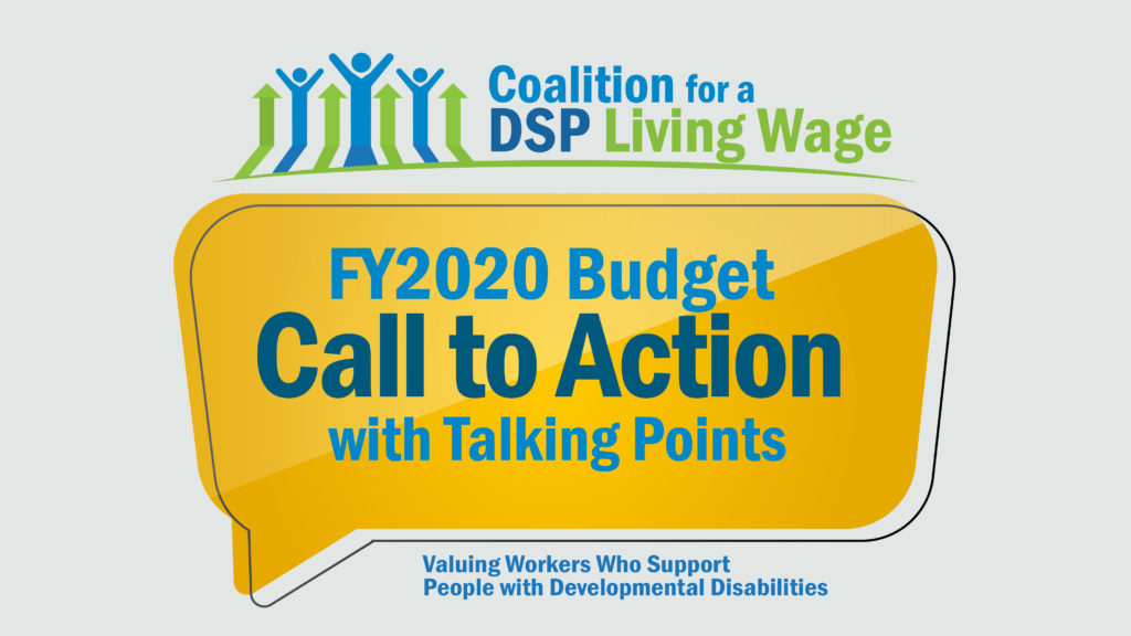 FY2020 Budget Call to Action with Talking Points