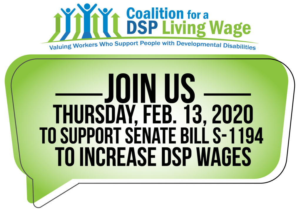oin us Thursday, Feb. 13, 2020 to supPort Senate bill S-1194 to increase DSP wages